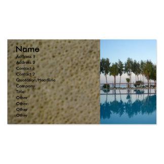 Opinión de piscina tarjetas de visita