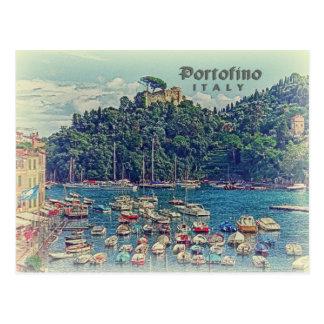 Opinión de Portofino del vintage, Italia Postales