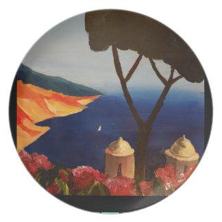 Opinión de Ravello Salerno Italia de la costa de Platos Para Fiestas