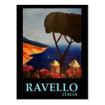 Opinión de Ravello Salerno Italia de la costa de Postal