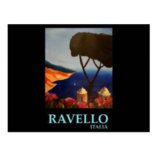 Opinión de Ravello Salerno Italia de la costa de Postales