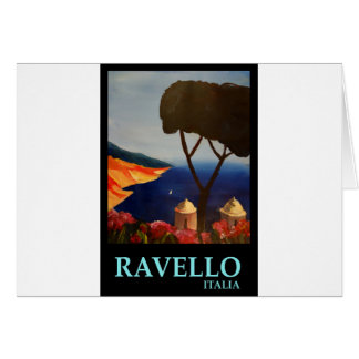Opinión de Ravello Salerno Italia de la costa de Tarjeta De Felicitación