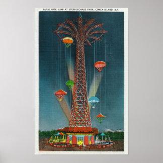 Opinión de salto de paracaídas del parque de la ca impresiones