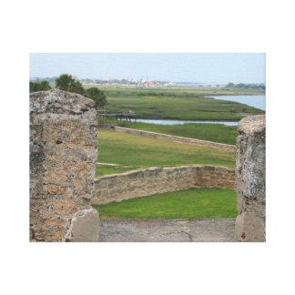 Opinión de St Augustine del castillo Lienzo Envuelto Para Galerias