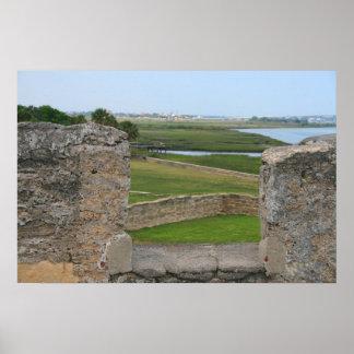 Opinión de St Augustine del castillo Posters