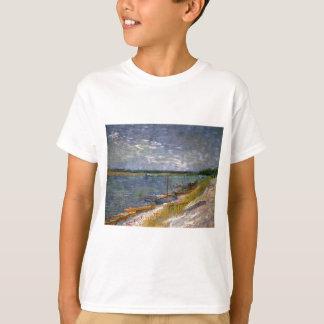 Opinión de Van Gogh del río con los barcos de Playera