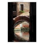 Opinión de Venecia de un puente Tarjetas