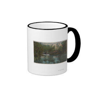 Opinión del agua del río y del pantano, la Florida Taza De Dos Colores