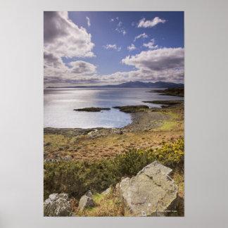 Opinión del agua y de la costa en el Bute, Argyll, Impresiones