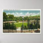 Opinión del Amphitheatre del parque de Thornden Póster