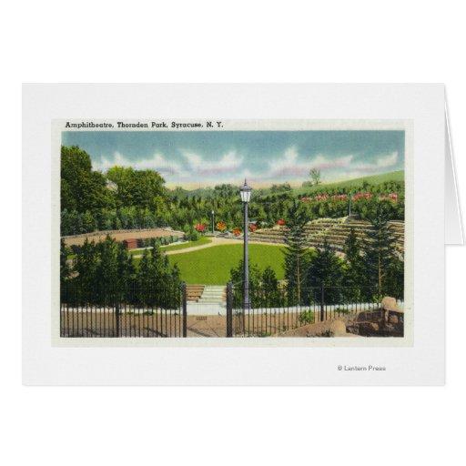 Opinión del Amphitheatre del parque de Thornden Tarjeta De Felicitación