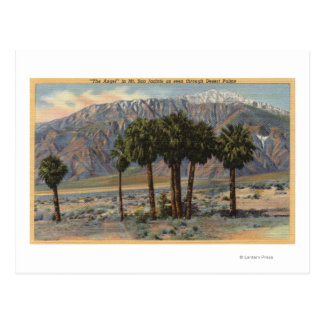 Opinión del ángel del Mt. San Jacinto a través de Postales
