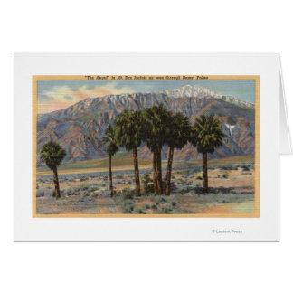 Opinión del ángel del Mt. San Jacinto a través de  Tarjeta