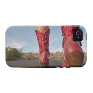 opinión del Bajo-ángulo de las botas de vaquero de Case-Mate iPhone 4 Carcasas