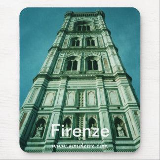 Opinión del campanil de Firenze Alfombrilla De Ratones