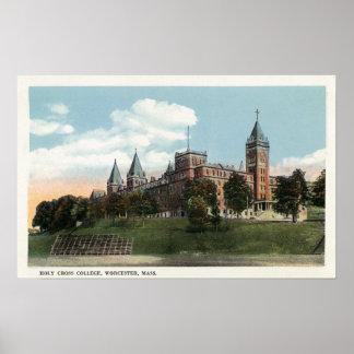 Opinión del campus de la universidad cruzada santa póster