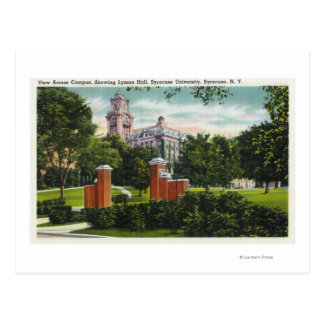Opinión del campus de Syracuse U que muestra a Postales