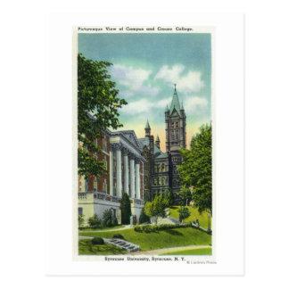 Opinión del campus de Syracuse U que muestra la Tarjeta Postal