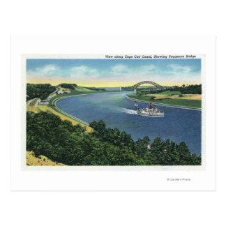 Opinión del canal de Cape Cod del puente de Postales