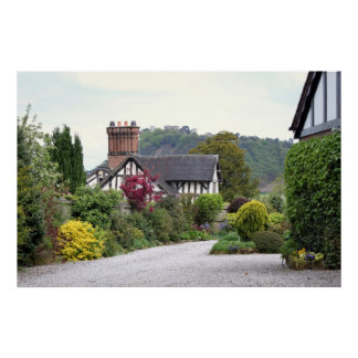 Opinión del castillo de Beeston Póster