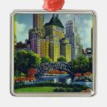 Opinión del Central Park de NYC de los 5tos Ornamentos De Navidad