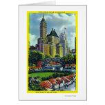 Opinión del Central Park de NYC de los 5tos hotele Tarjetón