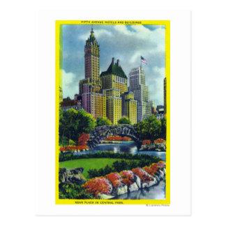 Opinión del Central Park de NYC de los 5tos hotele Tarjetas Postales