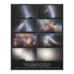 Opinión del cielo de la noche de la fusión futura  lona envuelta para galerías