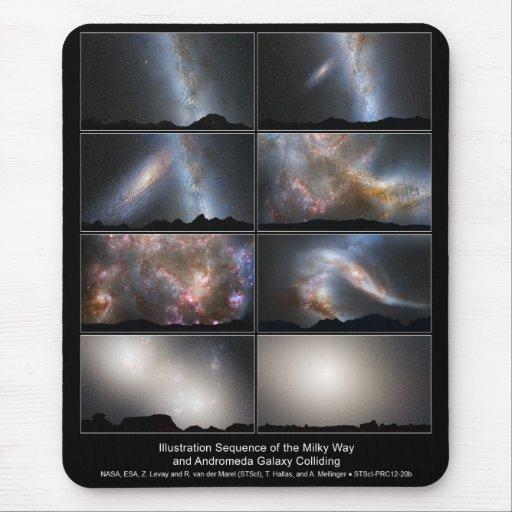 Opinión del cielo de la noche de la fusión futura  tapete de ratones