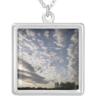 Opinión del cielo del horizonte con las nubes colgante cuadrado