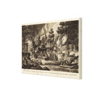 Opinión del ejemplo de la Columbia Británica Impresión En Tela