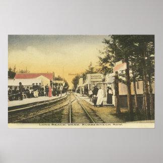 Opinión del ferrocarril de la fila del Rubberneck Póster
