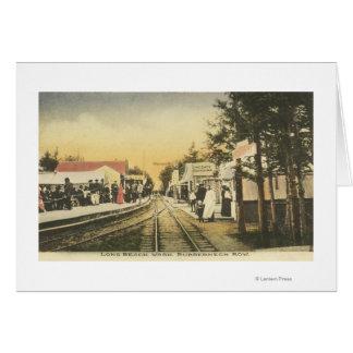 Opinión del ferrocarril de la fila del Rubberneck Tarjeta De Felicitación