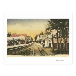 Opinión del ferrocarril de la fila del Rubberneck Tarjeta Postal