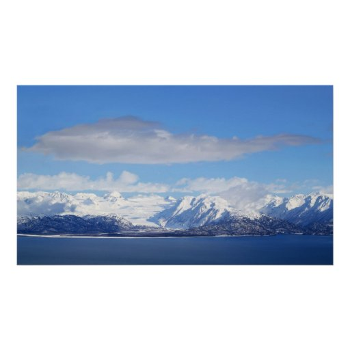 Opinión del glaciar póster