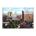 Opinión del horizonte de Birmingham Alabama Impresión En Lienzo