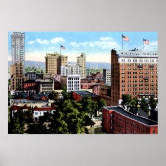 Opinión del horizonte de Birmingham Alabama Póster