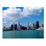 Opinión del horizonte de Chicago del embarcadero d Tarjeta Postal
