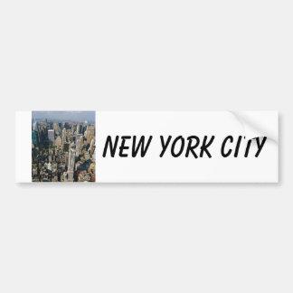 Opinión del horizonte de Nueva York del Empire Sta Etiqueta De Parachoque