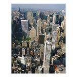Opinión del horizonte de Nueva York del Empire Sta Membrete Personalizado