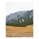 Opinión del invierno de Flatirons Boulder Colorado Plantillas De Membrete