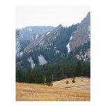 Opinión del invierno de tres Flatirons Boulder Col Membrete