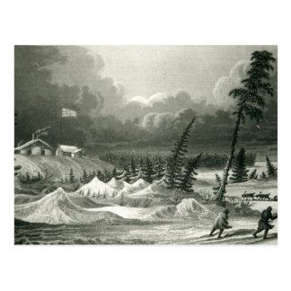 Opinión del invierno del fuerte Franklin Postal