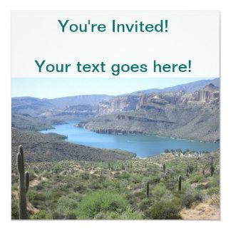 """Opinión del lago apache invitación 5.25"""" x 5.25"""""""