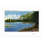Opinión del lago de la montaña del elefante tarjeta postal
