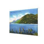 Opinión del lago de la montaña del salto de los ci impresiones en lona estiradas