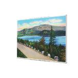 Opinión del lago eagle del camino de Cadillac Mt Lienzo Envuelto Para Galerías