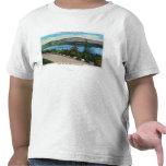 Opinión del lago eagle del camino de Cadillac Mt Camisetas