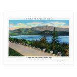 Opinión del lago eagle del camino de Cadillac Mt Postal