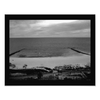Opinión del lago Michigan Fotografía